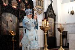 Епископ Пантелеимон возглавил совершение Литургии в праздник Иверской иконы Божией Матери